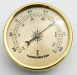 Thermometer 90mm Gold Face