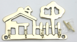 [BKH] Polished Brass House Key Holder