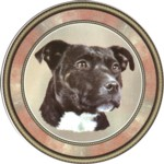 Black Staffie (R) Single (90mm)