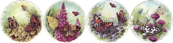 Butterfly Kingdom Set of 4 (90mm)