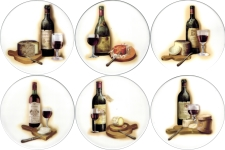 [T CHSE&WIN2 B150] Cheese & Wine 2 Set of 6 (150mm)