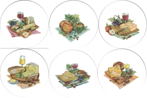 [T CHSE&WINE6 A 150] Cheese & Wine set of 6 (150mm)