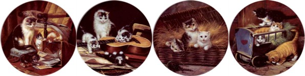 Classical Cats Set of 4 (150mm)