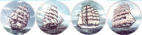 Clipper Ships Set of 4 (150mm)