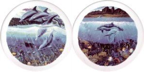 Dolphins Swimming Set of 2 (150mm)