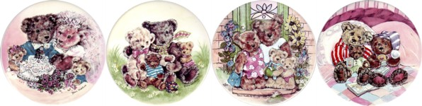 Family Bears Set of 4 (90mm)