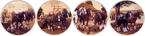 Farm Horses set of 4 (150mm)