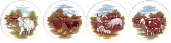 Farm Animals set of 4 (90mm)