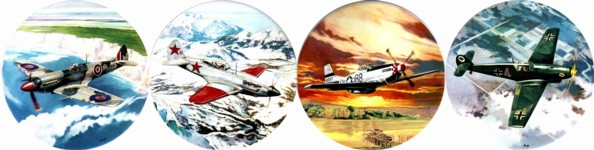 Fighter Planes Set of 4 (90mm)
