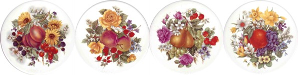 Fruit Bouquet Set of 4 (90mm)