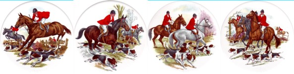 Hunting Scenes Set of 4 (150mm)