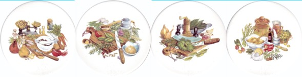 Kitchen Series Set of 4 (150mm)
