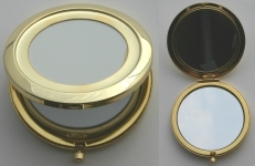 [MMG70] Makeup Mirror Large Gold Plated