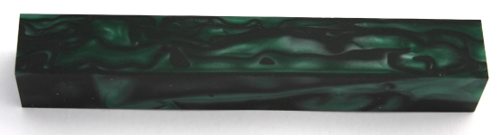 [PBAGBP] Acrylic Pen Blank Green With Black Pearl