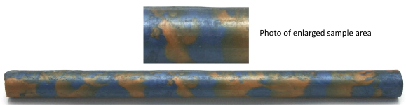 [PBAR19X300BGS] Acrylic Rods 19mm x x300mm Long Blue With Gold Swirl