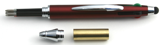 [PENMCSRED] Multi Colour Pen Kit Red & Chrome