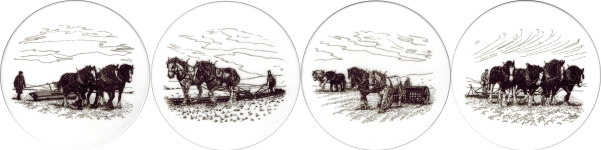 [T PLOUGH A150] Ploughing Set of 4 (150mm)