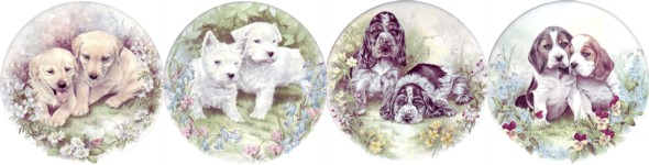 Puppies Set of 4 (90mm)