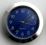 [QC37BLUAC] 37mm Insert Clock Blue Face Arabic Chrome Bezel