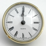 [QC3HRW72]Hermle Insert Clock 72mm White Face Roman Numerals