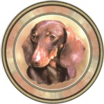 Red Dachshund (R) Single (90mm)
