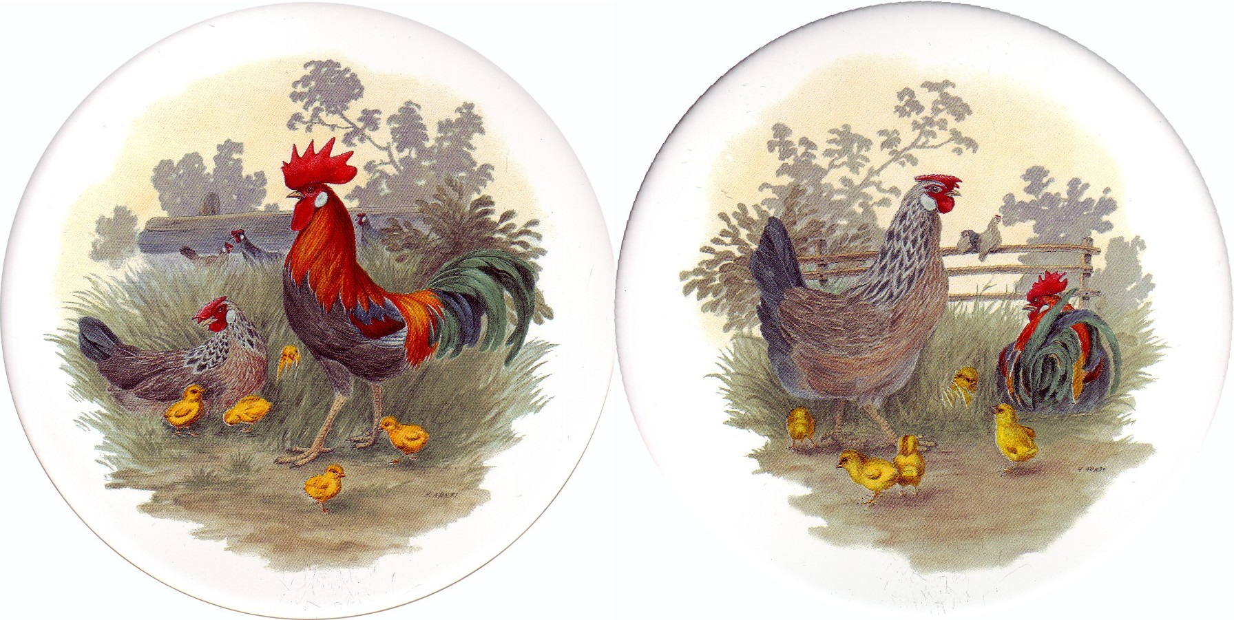 Rooster & Hen Set of 2 (90mm)