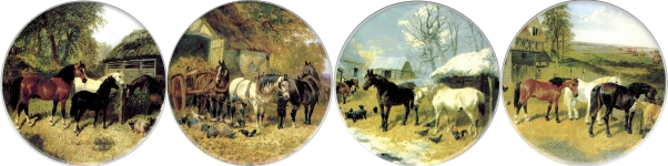 [T RUR HORS B 150] Rural Horses set of 4 (150mm)