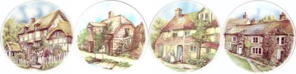 Stone Cottages Set of 4 (90mm)
