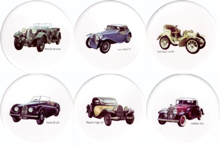 Vintage Cars 2 Set of 6 (150mm)