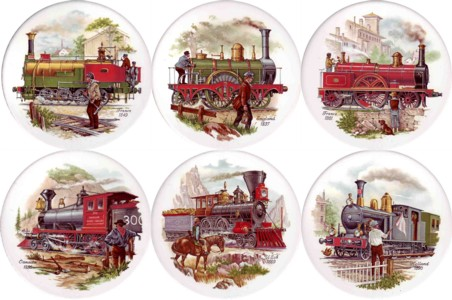 Vintage Steam Engines Set of 6 (90mm)