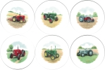 [T VIN TRACT B150] Vintage Tractors set of 6 (150mm)