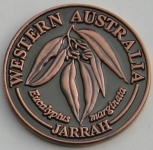 SCWAJB Souvenir Coin West Aust Jarrah Antique Bronze