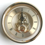 [WISC150GR] Skeleton Clock 150mm Dia. Gold Roman