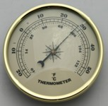 Thermometer 90mm Ivory Face