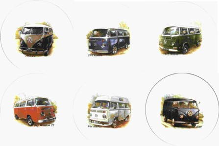 Combi Vans Set of 6 (150mm)