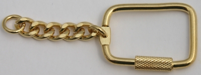 [ZBLKRG] Key Ring Barrel Lock Gold Colour Plated